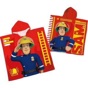 Badeponcho »Feuerwehrmann Sam«, Feuerwehrmann Sam, mit Kapuze