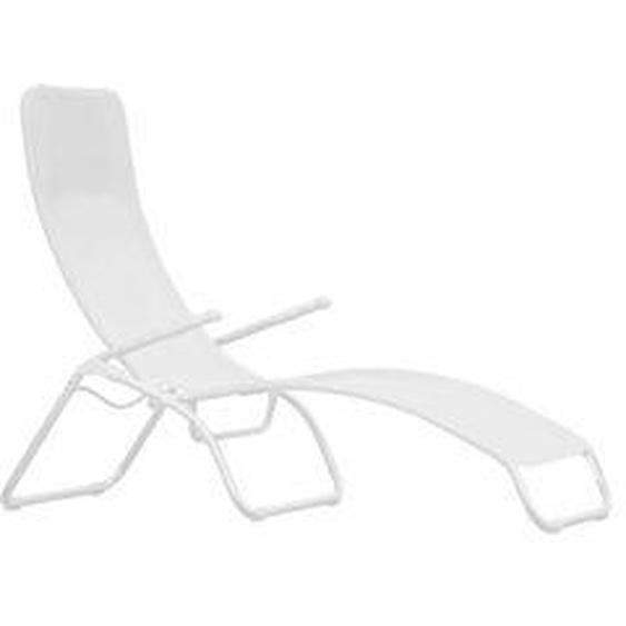 Fiam - Terrassenliege Samba, Aluminium weiß / weiß