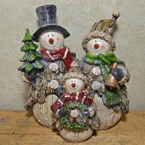 Figur Festliche Schneemännerfamilie
