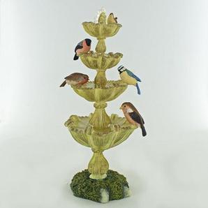 Figur Verzierter Brunnen mit Vögeln