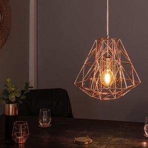 Filigrane Hängeleuchte CAGE S rosegold Industrial Design