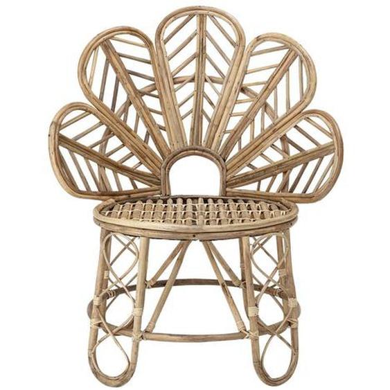 Filigraner Stuhl Emmy mehrfarbig aus Rattan 73 x 90 x 56 cm