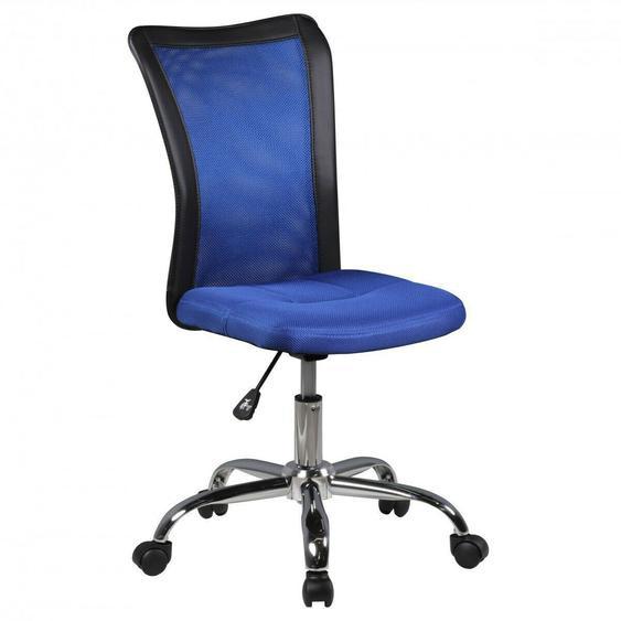 Finebuy Kinderschreibtischstuhl Bürostuhl Blau Drehstuhl Jugendstuhl