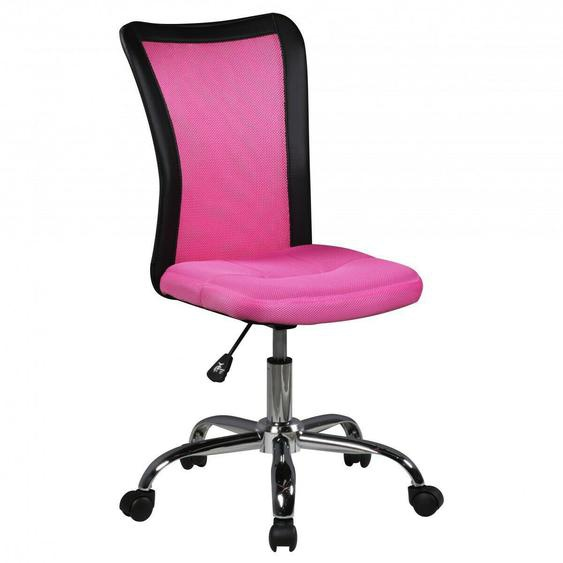 Finebuy Kinderschreibtischstuhl Bürostuhl Pink Drehstuhl Jugendstuhl