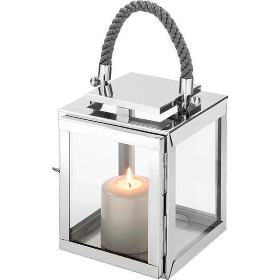 Fink Laterne SEVILLA 18x18x36 cm silberfarben Kerzenhalter Kerzen Laternen Wohnaccessoires