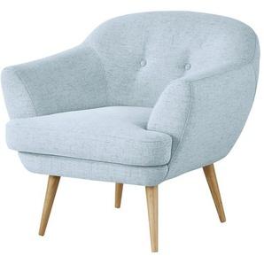finya Sessel blau - Stoff Elara ¦ blau ¦ Maße (cm): B: 82 H: 80 T: 84 Polstermöbel  Sessel  Polstersessel » Höffner