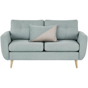finya Sofa 2-sitzig mintgrün - Webstoff Harris ¦ grau ¦ Maße (cm): B: 161 H: 85 T: 92 Polstermöbel  Sofas  2-Sitzer » Höffner