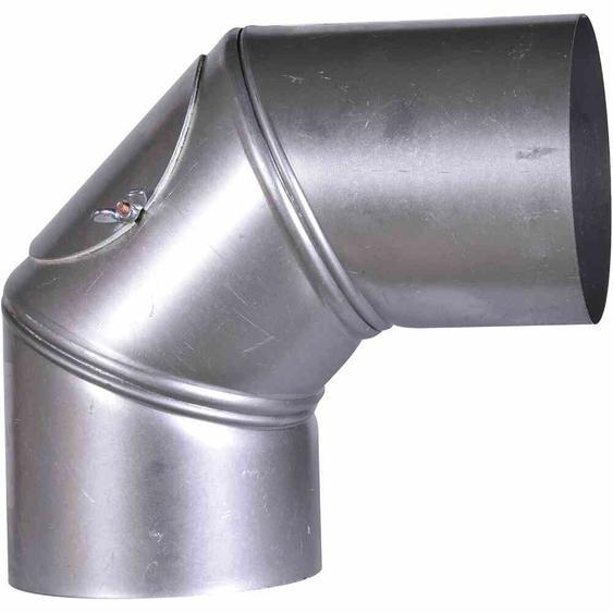 FIREFIX A110/BU Ofenrohrbog.90° FALØ110mm drehbar mit Tür (1 Stück)