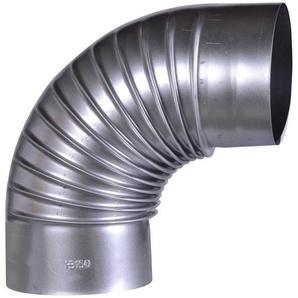 FIREFIX Rohrbogen feueraluminiert, starr, für 150 mm FAL-Ofenrohr
