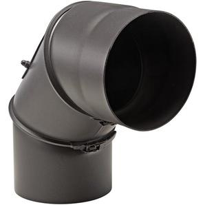Firefix Rauchrohrbogen schwarz ø 150 mm