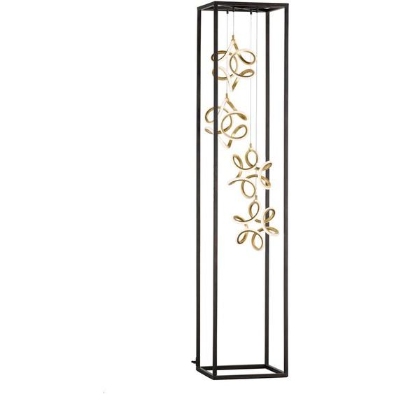 FISCHER & HONSEL LED Stehlampe Gesa, LED-Board, 1 St. 4 flg., Höhe: 170 cm schwarz LED-Lampen LED-Leuchten SOFORT LIEFERBARE Lampen Leuchten