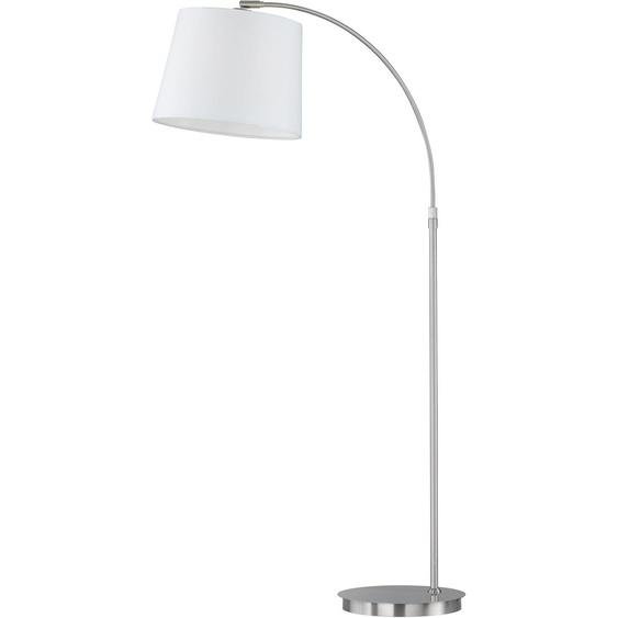 FISCHER & HONSEL Stehlampe Lund, E27 1 flg. silberfarben Bogenlampen Stehleuchten Lampen Leuchten