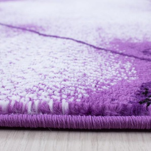 Flachgewebe-Teppich Andrus in Lila