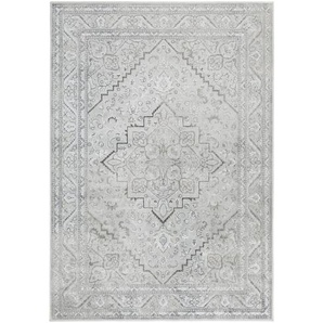 Flachgewebe-Teppich Famos in Silber