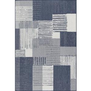 Flachgewebe-Teppich Isidoro in Blau