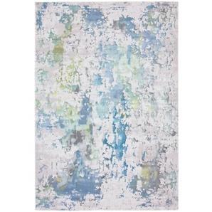 Flachgewebe-Teppich Kansas in Blau