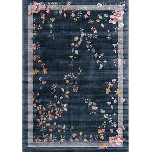 Flachgewebe-Teppich Christina in Blau