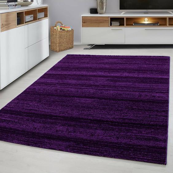 Flachgewebe-Teppich Saima in Lila