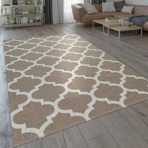 Flachgewebe-Teppich Sunstone aus Baumwolle in Beige