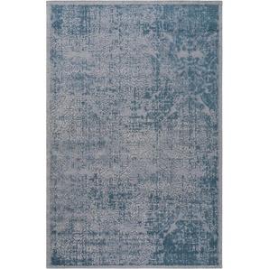 Flachgewebeteppich Frencie Blau 80x165 cm