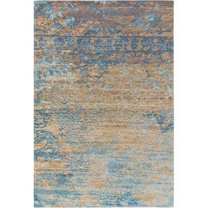 Flachgewebeteppich Tosca Blau/Braun 75x165 cm