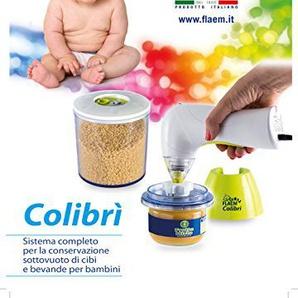 Flaem Baby Colibri System Komplett für die Erhaltung Vakuum von Speisen und Getränken für Kinder