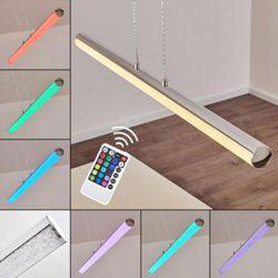 Flaut Pendelleuchte LED Chrom, 1-flammig, Fernbedienung, Farbwechsler - Design - Innenbereich - versandfertig innerhalb von 2-4 Werktagen