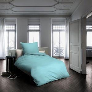 fleuresse Bettwäsche Colours, großes Farbsortiment B/L: 135 cm x 200 (1 St.), 80 Mako-Satin blau nach Größe Bettwäsche, Bettlaken und Betttücher