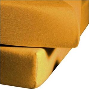 Fleuresse Spann-Bettlaken »Comfort«, 200/200 cm, gelb