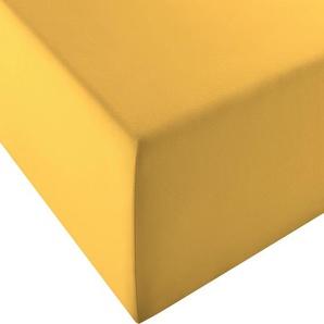 Fleuresse Spannbetttuch »Comfort XL«, 180/200 cm, gelb