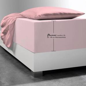 Fleuresse Spann-Bettlaken »Comfort XL«, 100/200 cm, rosa