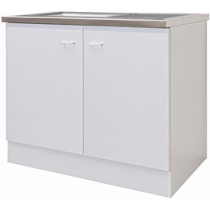 Flex-Well Classic Spülenunterschrank Speed 100 cm Weiß