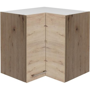 Flex-Well Eck-Oberschrank 60x60 cm Arizona Quarz Cubanit-San Remo Eiche