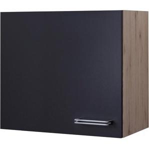Flex-Well Exclusiv Hängeschrank Lara 60 cm Anthrazit-San Remo Eiche