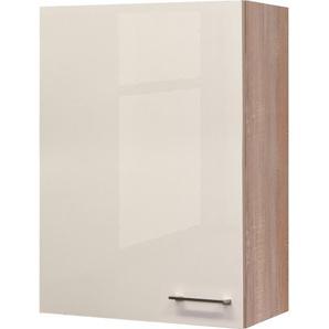 Flex-Well Exclusiv Oberschrank Orlando 60 cm x 89 cm Kaschmir Glanz-Sonoma Eiche