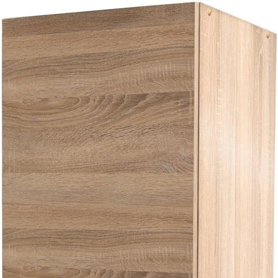 Flex-Well Seitenschrank Bergen 50 x 200 (B H T) cm, 1-türig braun Vorratsschränke Küchenschränke Küchenmöbel Schränke