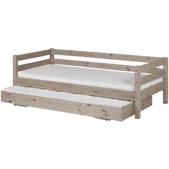 FLEXA Bett mit Ausziehbett 90x200 - terra - Kiefer Flexa Classic ¦ holzfarben ¦ Maße (cm): B: 100 H: 67