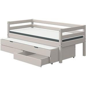 FLEXA Bett mit Ausziehbett und Schubladen  Flexa Classic ¦ grau