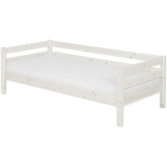 FLEXA Bett mit hinterer Absturtzsicherung  Flexa Classic ¦ weiß ¦ Maße (cm): B: 100 H: 67