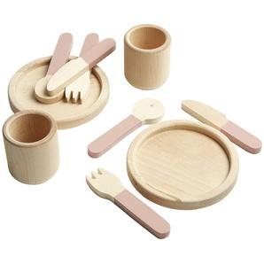 FLEXA Geschirr-Set  The Kitchen ¦ rosa/pink ¦ Birke massiv Baby  Spielen  Lernspielzeug » Höffner