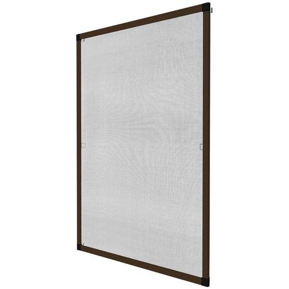 Fliegengitter für Fensterrahmen - braun, 100 x 120 cm