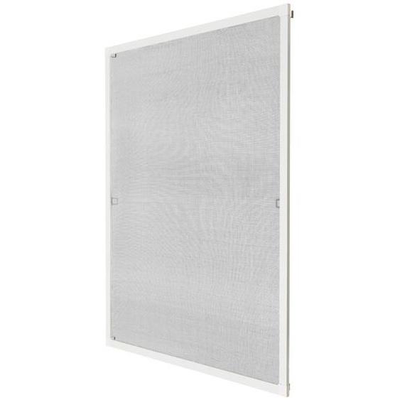 Fliegengitter für Fensterrahmen - weiß, 120 x 140 cm