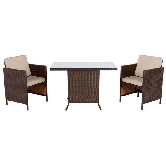 FLORABEST Balkon-Set, 3-teilig, mit Tisch, 2 Stühle