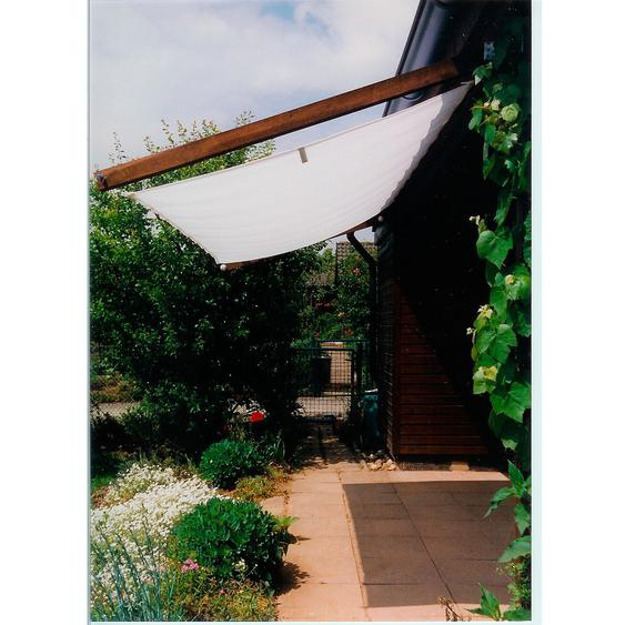 Floracord Pergola Bausatz inkl. Sonnensegel Weiß 420 cm