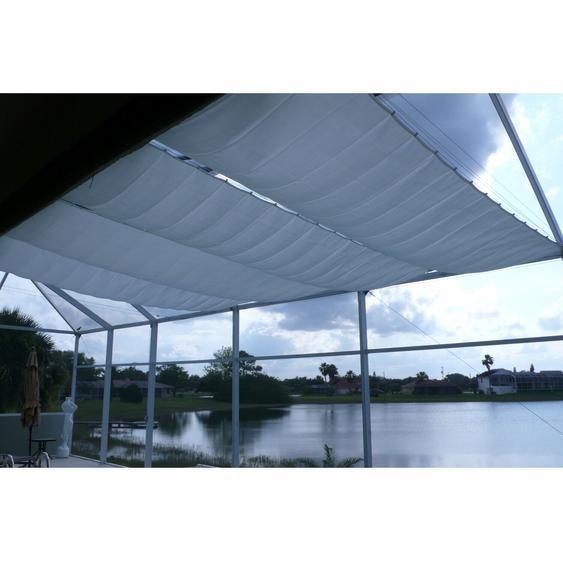 Floracord Seilspanntechnik Bausatz inkl. Sonnensegel Silbergrau 330 x 140 cm