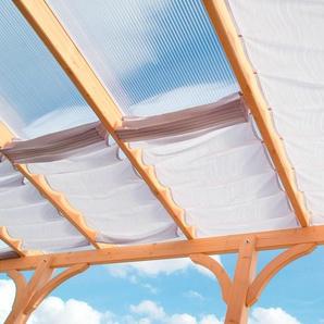 Floracord Sonnensegel, 433 x 240 cm mit 6 Feldern B/T: 61 220 weiß Überdachungen Garten Balkon Sonnensegel