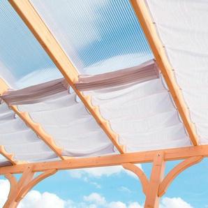 Floracord Sonnensegel, 433 x 303 cm mit 6 Feldern B/T: 61 275 weiß Überdachungen Garten Balkon Sonnensegel