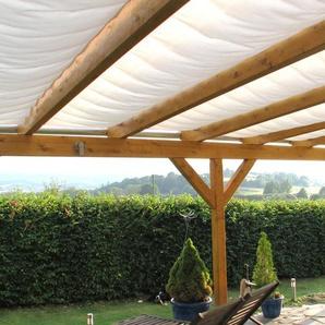 Floracord Sonnensegel, 714 x 250 cm mit 7 Feldern B/T: 91 220 weiß Überdachungen Garten Balkon Sonnensegel