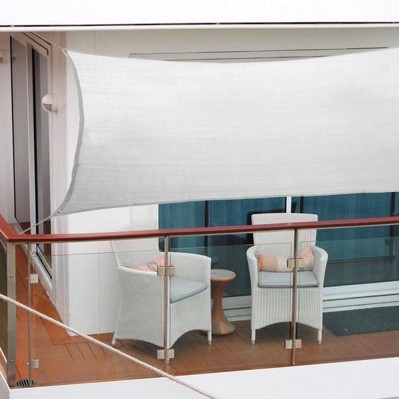 FLORACORD Sonnensegel , BxL: 270x140 cm, silbergrau