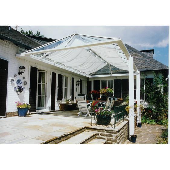 Floracord Sonnensegelbausatz Universal Weiß 420 cm x 140 cm